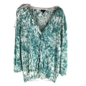 Talbots Soft Painted Light Cover Up Sweater EUC
